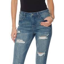 High Waisted Colored Jeans Savannah Chrisley Faith Over Fear High Waist Distressed Skinny