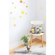 stickers muraux chambre stickers muraux étoiles jaunes pour la décoration