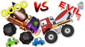 Typical Halloween Monsters by Cement Mixer War Good Vs Evil Scary Heavy Vehicles Halloween