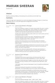 community relations manager resume samples visualcv resume