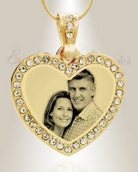 Gold Engraved Necklace Photo Engraved Jewelry