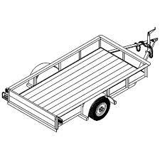 auto shop plans 4 u0027x8 u0027 utility trailer plans model 1108 2 000 lb or 3 500 lb