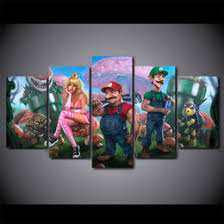 Super Mario Home Decor Mario Painting Nz Buy New Mario Painting Online From Best