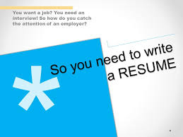 Do You Need A Resume For An Interview You Want A Job You Need An Interview So How Do You Catch The