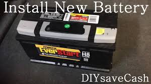 bmw e65 e66 how to replace install a new battery youtube