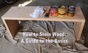 wood supplies how to stain wood a basic guide
