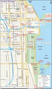chicago map with attractions chicago illinois map