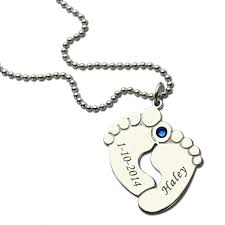necklace with name and birthstone personalized baby birthstone necklace name date