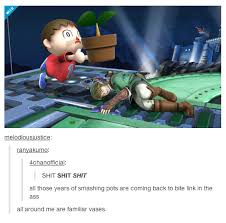 Animal Crossing Memes - tumblr super smash bros animal crossing legend of zelda and