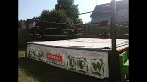 building a wrestling ring in my backyard youtube