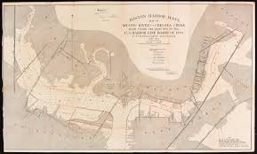 Map Of T Boston by Boston Harbor Mass Map Of Mystic River And C