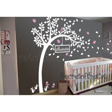 baby nursery tree wall decal with customized name wall sticker