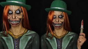 creepy scary leprechaun makeup tutorial youtube