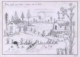 pencil sketch of a scenery desipainters com