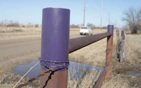 purple fence posts trees in kansas no hunting without permission