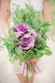vegetable patch inspired wedding floral crown bouquet and