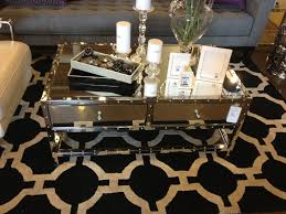 Small Coffee Table by Modern Rectangle Mirrored Coffee Table With Glass Top Double