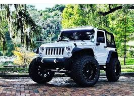 modified jeep 2017 jeep 2017 jeep jk white modified wheels lifted front end custom