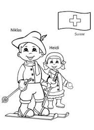 switzerland coloring pages for kids children of other lands