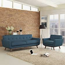Sofa And Armchair Set Lexmod Engage Armchair And Azure Sofa Set Of 2