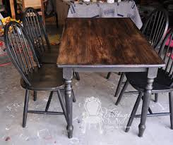 Chalk Paint Table And Chairs How To Stain Over Chalk Painted Surfaced Black Chalk Painted