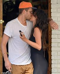 Paz de la Huerta kisses and puffs on cigarettes with mystery man