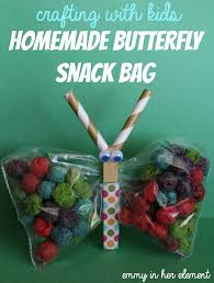 emmy in her element crafting with kids diy butterfly snack bag