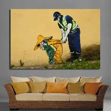 home decoration painting modern graffiti decoration wall art picture canvas painting police