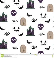 halloween background tombs cartoon spooky halloween vector seamless pattern stock vector
