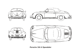 porsche cartoon drawing car clipart