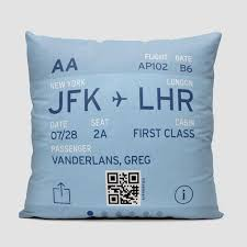 digital boarding pass throw pillow create your own airportag