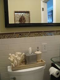 bathroom simple design of toilet tank tray for storage space