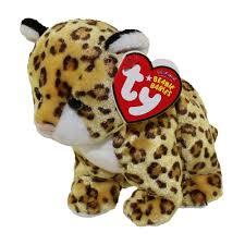 ty beanie baby leelo the leopard 5 5 inch bbtoystore com