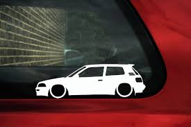 cm toyota 2x low car outline stickers toyota corolla gti gt twin cam ae92