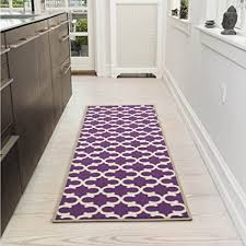 Lilac Runner Rug Ottomanson Collection Contemporary Moroccan