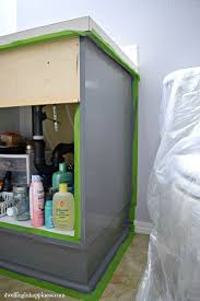 Pretty Mess Vanity How To Paint Your Bathroom Vanity The Easy Way