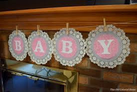 baby shower banner diy baby shower decor this colonial home