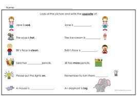 all worksheets opposites worksheets printable worksheets guide