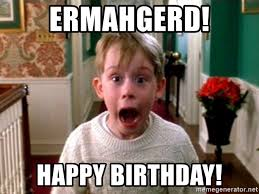 Meme Generator Ermahgerd - ermahgerd happy birthday home alone kid meme generator