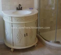 demi lune ornate sink vanity unit