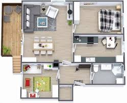 small house floor plans 1000 sq ft stylish design 5 modern house plans 1000 sq ft 4d 3d small house