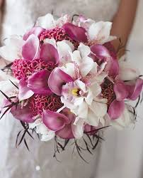 wedding flowers orchids wedding flowers orchids orchid bouquet cascade purple plum from
