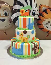 jungle themed baby shower baby jungle animals baby shower cake cakes