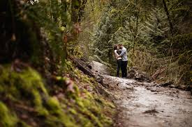 portland wedding photographers and mike at portland s forest park portland engagement