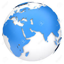 Africa And Europe Map by Earth Globe Map Side Of Africa And Europe 3d Image Stock Photo
