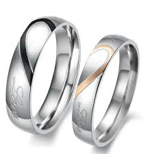 buy titanium rings images Love theme romantic match heart titanium steel lover rings jpg