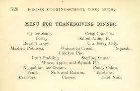 oyster soup roast turkey and bon bons anyone thanksgiving
