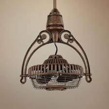 vintage industrial ceiling fans the tarnished bronze finish and classic cage design creates a