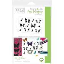 k designs st n foil foil mates detail sheet butterfly