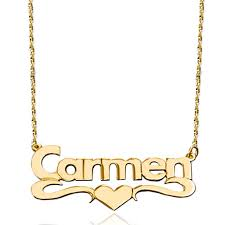custom made name necklaces new fashion 18 k gold middle heart custom made name necklace